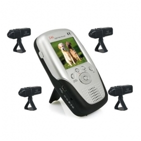 Wholesale 2.4Ghz 2.5 Inch Four Channel MP4 Baby Monitor with 4x Rechargable Li-battery Camera
