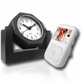 Wholesale Covert Wireless Spy Camera Alarm Clock with Receiver w/LCD
