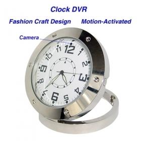 Wholesale 640*480 Clock Style Digital Video Recorder DVR Motion-Activated Hidden Pinhole Color Camera