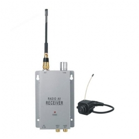 Wholesale Micro Wireless Spy Pinhole Color Audio Camera + A/V Receiver