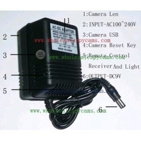 Wholesale 8GB Charger Hidden HD Pinhole Spy Camera DVR 1280X720 (Motion Activated And Remote Control )