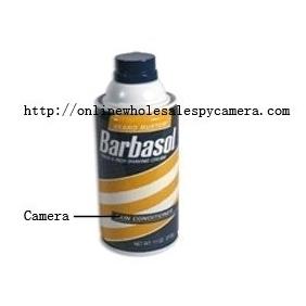 Wholesale Remote Control Shaving Cream Hidden waterproof pinhole camera Spy Camera HD DVR 16GB