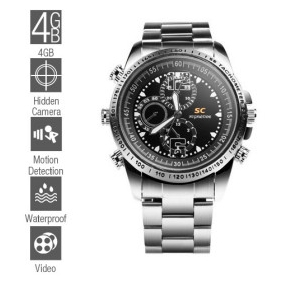 Wholesale Waterproof Spy Watch with Motion Detector (4GB)
