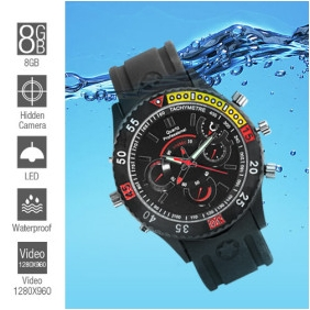 Wholesale Waterproof Sports Spy Watch (8GB)