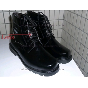 Wholesale Police Used Shoe Spy Camera For Inspection And Surveillance,Spy Shoe Camera With DVR Recorder