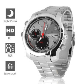 Wholesale 8GB 1080P Full HD Spy Camera Watch with Night Vision