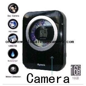 Wholesale 1280x720 Spy CD/Radio Hidden Waterproof Spy Camera 16GB 720P HD DVR (Motion Detection)