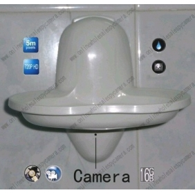 Wholesale 5.0 Mega Pixel New Bathroom Spy Soap Box Hidden HD Camera DVR 16GB 1280x720P