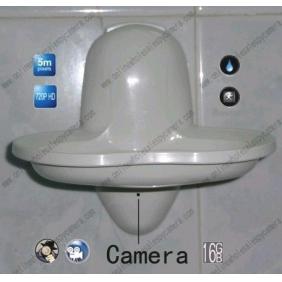 Wholesale 5.0 Mega Pixel New Bathroom Spy Soap Box Hidden HD Camera DVR 16GB 1280x720P