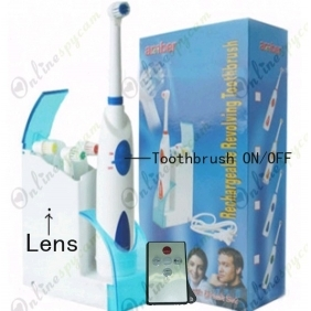 Wholesale HD Motion Activated Toothbrush Bathroom Spy Camera 1280X720 DVR 32GB Remote Control ON/OFF