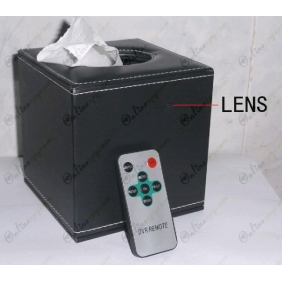 Wholesale 64 Hours Working Motion detection CMOS HR DVR Tissue Box Covert Camera AV OUT 32GB 1280X720 LCD Display