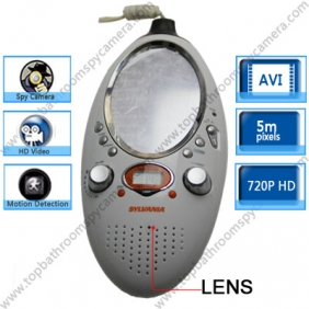 Wholesale Bathroom Spy Radio With Mirror Hidden HD Bathroom Spy Camera Motion Detection DVR 16GB
