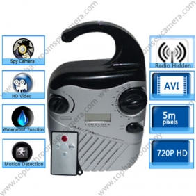 Wholesale Waterproof Spy Radio Hidden HD 720P Spy Camera DVR 16GB (Motion Activated And Remote Control )