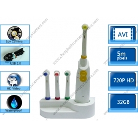 Wholesale Low Luminous Bathroom Spy Toothbrush Camera With Motion Detection
