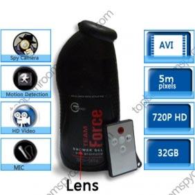 Wholesale 32GB Men\'s Shower Gel Bathroom Spy Camera Motion Detection Spy Camera 720P DVR Remote Control