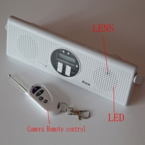 Wholesale Spy Camera in Bathroom,Shower Radio HD Camera 32GB(motion detection and remote controller)