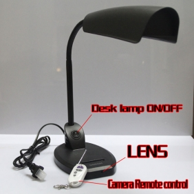 Wholesale 32GB 5.0 Mega pixels Desk Lamp Hidden Camera With DVR with Motion Detection and Remote Controller