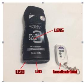 Wholesale 32GB HD Bathroom Spy Camera Black Men\'s Shower Gel Motion Detection1080P DVR Remote Control ON/OFF