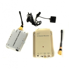 Wholesale High Power 3000mw 1.2GHz Wireless Button Camera and Receiver Set