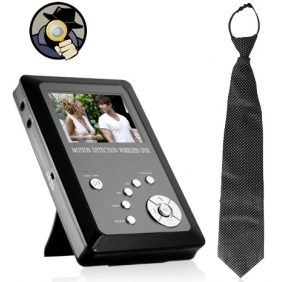 Wholesale Wireless Spy Necktie Camera with Portable Recorder