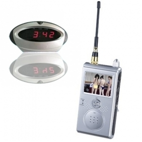 "Wholesale 1.2GHz Wireless Security System Covert Spy Camera w/ Clock Apperance & 2.4"" LCD Receiver"