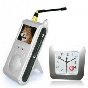 Wholesale Covert Wireless Spy Camera Alarm Clock with portable receiver