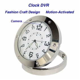 Wholesale 640*480 Clock Style Digital Video Recorder DVR Motion-Activated Hidden Pinhole Color Camera