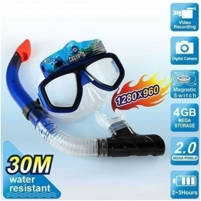 Wholesale Diving Snorkle Underwater Scuba Mask Camera DVR with 1280*960 Definition Anti-fog Glass and 4GB Memory