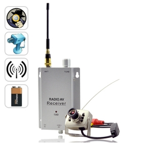 Wholesale Mini Wireless Spy Camera Transmitter with Receiver Set