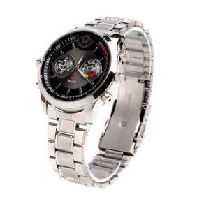 Wholesale HD 8GB Waterproof All Metal Sport Watch with Motion Detector Digital Watch Video Recorder