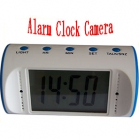 Wholesale 1280*960 Alarm white Clock Camera with Remote Controller Spy Clock Camcorder with PC Camera(8GB)