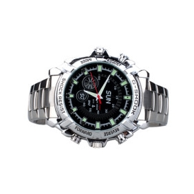 Wholesale HD IR Night Vision Waterproof Spy Watch (16GB)