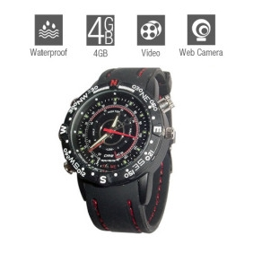 Wholesale Hidden Waterproof Sports Watch with Web Camera (4GB)