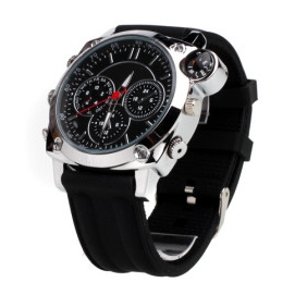 Wholesale HD Waterproof Fashion Design Spy Watch (4GB)