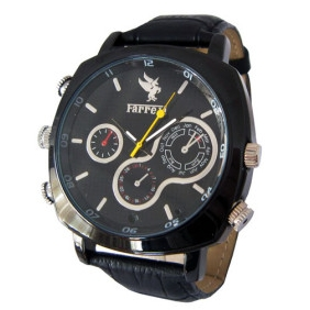 Wholesale 1080P HD Waterproof Stainless Cover Spy Watch with Web Camera (4GB)