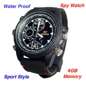Wholesale Waterproof Sports Spy Watch with Motion Detector (8GB)