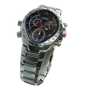 Wholesale HD Hidden Waterproof Stainless Cover Spy Watch (4GB)