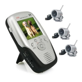 Wholesale 2.4Ghz 2.5 Inch Four Channel MP4 Baby Monitor with 3x Night Vision Camera
