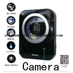 Wholesale Waterproof Spy CD + Radio Camera Hidden Bathroom Spy Camera 16GB 720P HD DVR