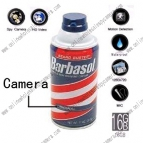 Wholesale Shaving Cream Hidden Remote Control Pinhole Spy Camera DVR HD 1280X720 16GB(Motion Activated)