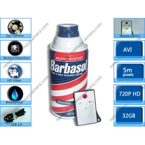Wholesale 32GB Bathroom Spy Camera Shaving Cream Hidden Camera Motion Activated DVR HD 720P Remote Control