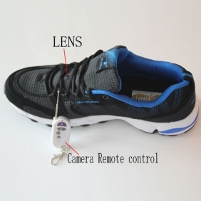 Wholesale Shoes Spy Camera With Remote Control HD Spy Camera In Sport Shoe 32GB