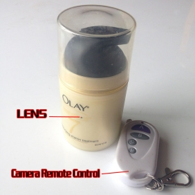 Wholesale 32GB Motion Detection Spy Camera/Classic Moisturizer Bottle Hidden Camcorder FOR MEN'S USE only